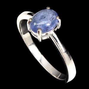 Top Rich Blue Violet Tanzanite .925 ring size 9